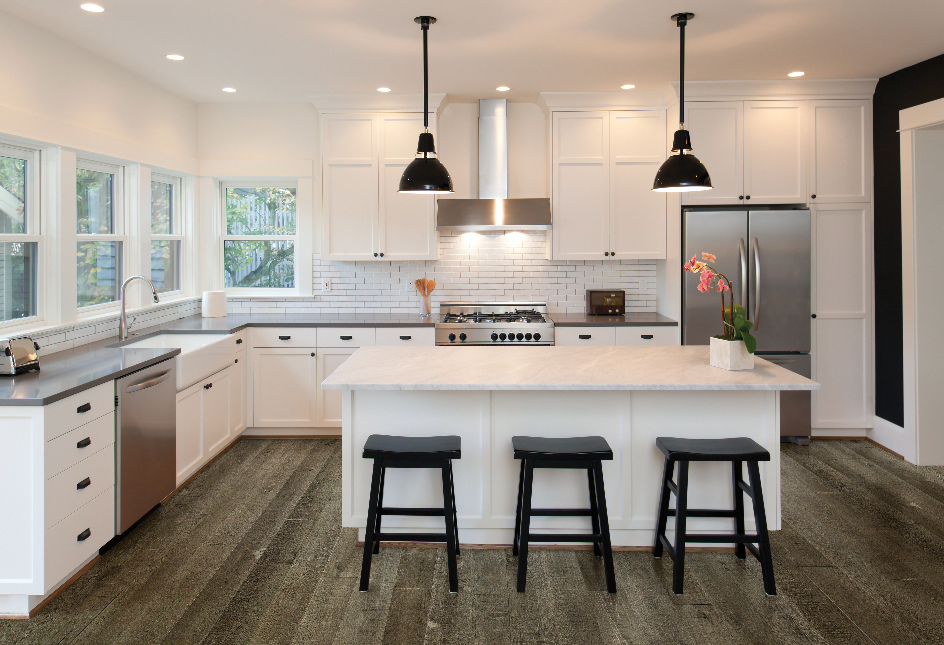 Image showing wood flooring in a kitchen.