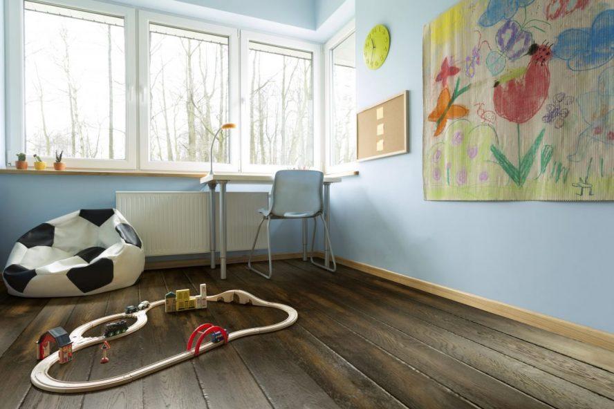 Room with hardwood flooring
