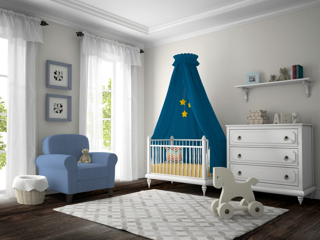 Image showing wood flooring in a child's room scene.