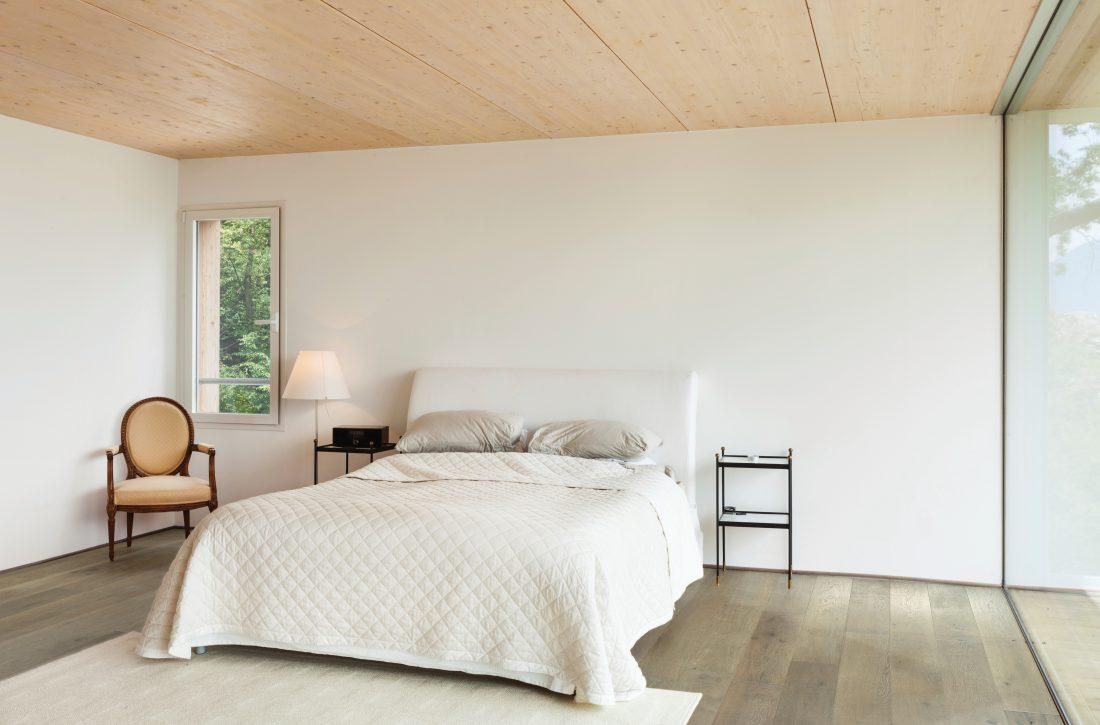 Modern apartment interior featuring Johnson Hardwood's British Isles, Species European oak, color Sunderland
