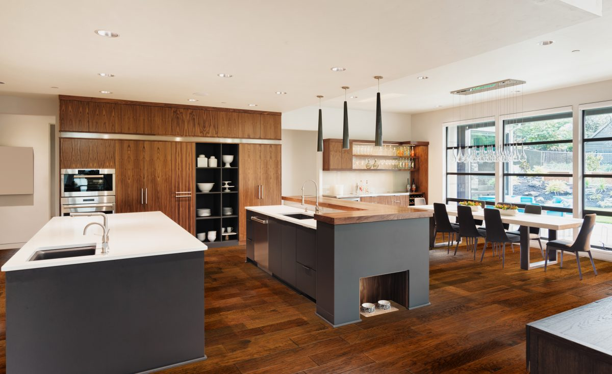 room scene with hardwood flooring