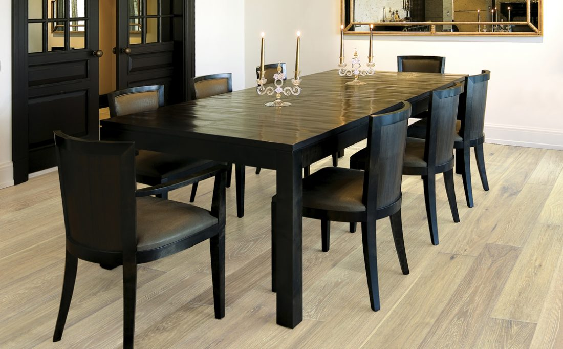 Image showing wood flooring in a dining room.
