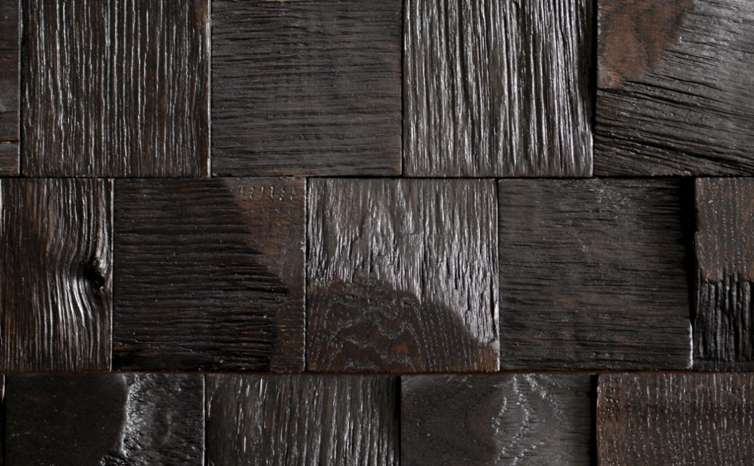 Detail image of wood wall.