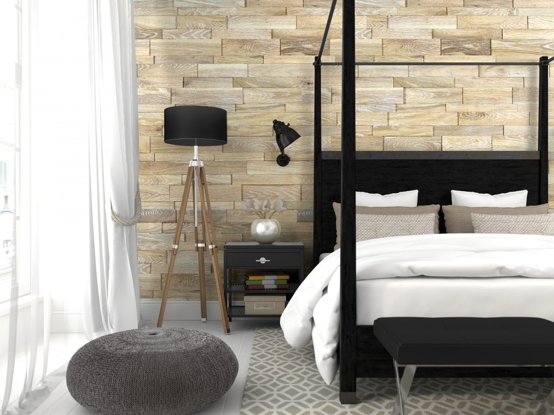 Image showing wood flooring in a bedroom.