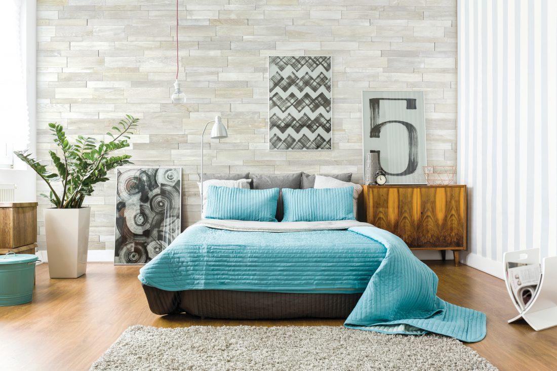 Image showing wood flooring in a bedroom.