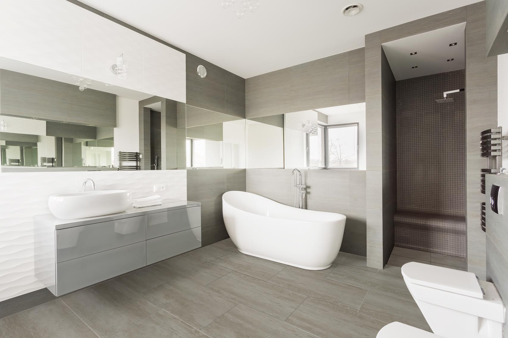 Image showing wood flooring in a bathroom.