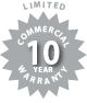Limited Commercial 10 Year Warranty