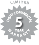 Limited Light Commercial 5 Year Warranty