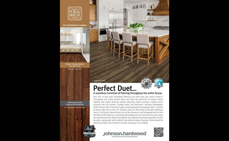 Advertisement for wood flooring.