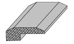 Drawing of hardwood floor molding.