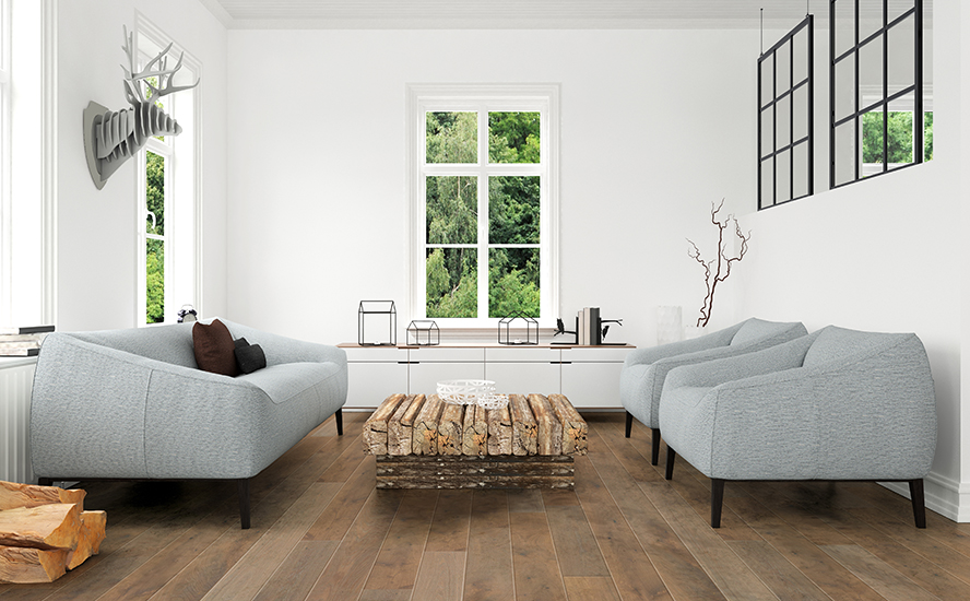 Image showing wood flooring in a room scene.